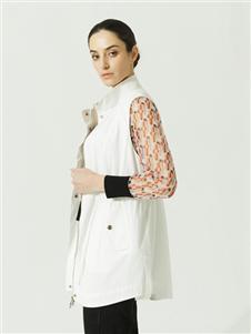 约布女装约布白色马甲