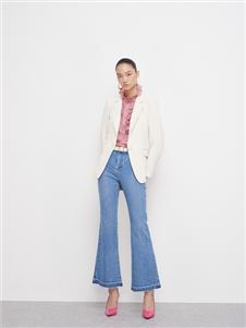 佧茜文2021春款白色外套