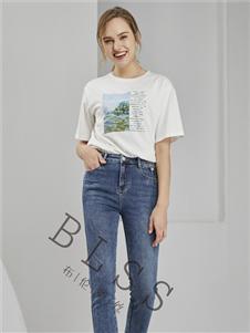 布伦圣丝白色T恤
