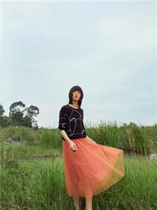易菲2021春款纱裙
