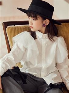 M童装女童甜美可爱衬衫