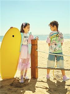 水孩儿童装水孩儿2021春趣味印花外套