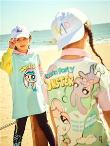 水孩儿童装水孩儿女童个性印花卫衣