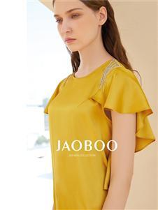 JAOBOO乔帛荷叶袖连衣裙