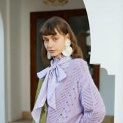 MC&ME木茜格:毛衫特辑 | 高级感的鸢尾紫,拯救你的无聊穿搭