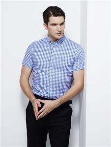法拉狄奥21男装格子短袖