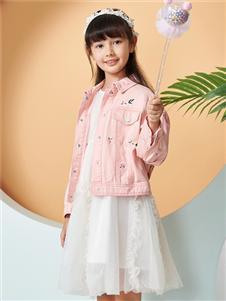 红蜻蜓新款粉色外套