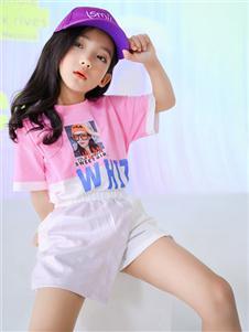 西瓜王子童装西瓜王子粉色时尚T恤