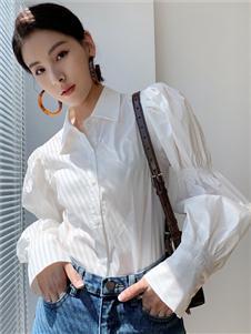 珂希莉新款白色衬衫