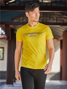 百斯盾新款黄色T恤
