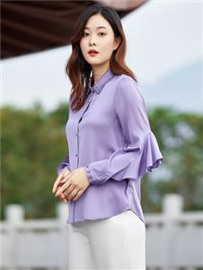 百斯盾紫色时尚衬衫