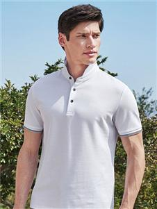 乔治邦尼男装乔治邦尼男装2021夏白色POLO衫