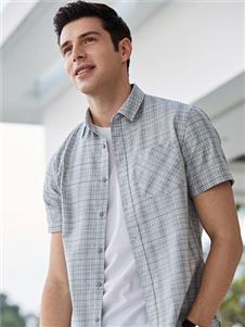 乔治邦尼男装乔治邦尼男装2021夏短袖格子衬衫
