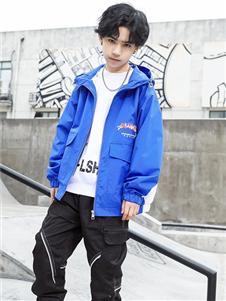 1+2=3童装新款蓝色外套