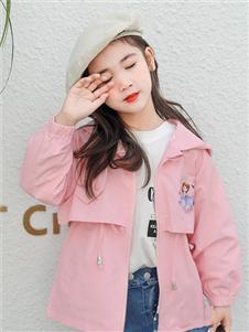 1+2=3童装新款粉色外套