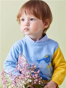青蛙王子男小童21春針織上衣