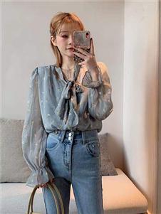 桔尚女装桔尚女装21春泡泡袖衬衫