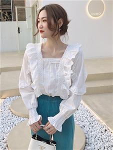 桔尚女装桔尚女装2021春甜美时尚衬衫