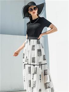 例格女装21夏时髦套装裙
