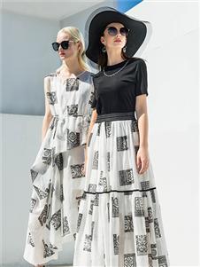 例格女装21夏气质裙子