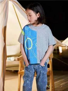 宾果童话时尚拼接T恤