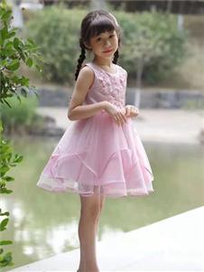 宾果童话童装宾果童话无袖粉色连衣裙
