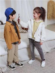 宾果童话童装宾果童话卡其色时尚外套