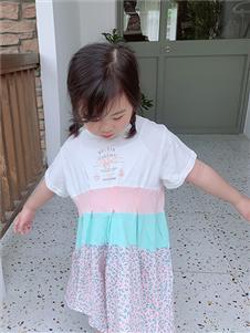 小嗨皮女童夏可爱连衣裙