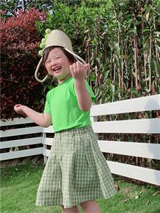 小嗨皮女童夏款套装