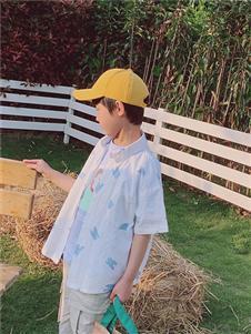 小嗨皮男童夏短袖衬衫