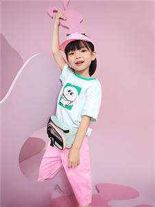 小猪班纳童装小猪班纳女童可爱T恤21夏新款