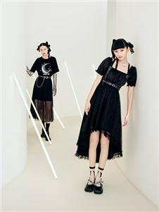 阿依莲女装21夏个性小黑裙
