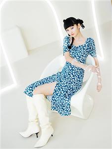阿依莲女装21夏新款连衣裙