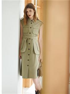 丽芮女装夏款干练衬衫裙
