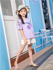 杰米熊女童夏可爱T恤