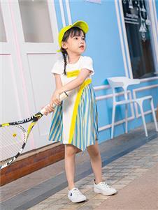 杰米熊女童夏可爱连衣裙