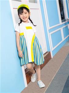 杰米熊女童夏连衣裙