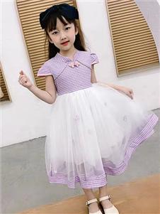 动漫童话紫色蕾丝裙