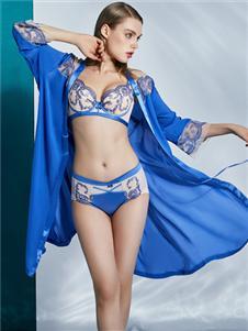 莱特妮丝蓝色时尚文胸套装
