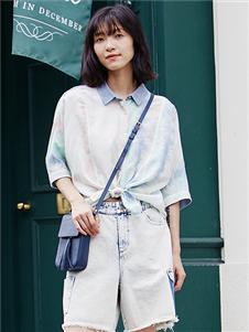 麗迪莎時尚短袖襯衫