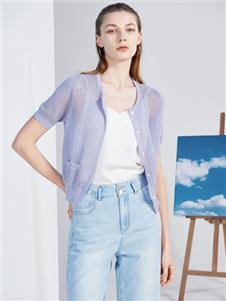 2021沙与沫夏装新款网格开衫