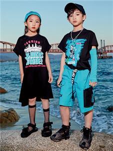 JOJO童装2021JOJO夏装新款蓝色短裤