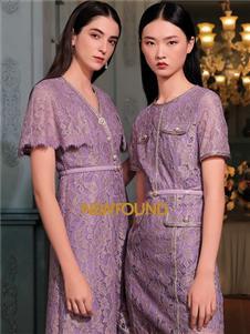 纽方女装2021纽方夏季新款蕾丝连衣裙
