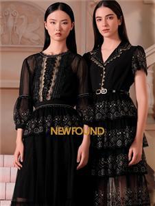 纽方女装2021纽方夏季新款黑色裙装