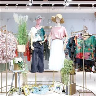 蘭綢真絲夏裝品牌折扣女裝曼絲秀登庫存尾貨分份批發