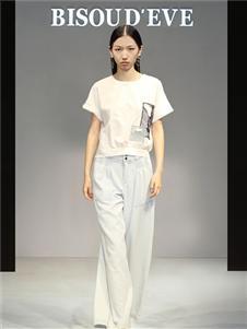 2021碧淑黛芙夏装新款白色T恤