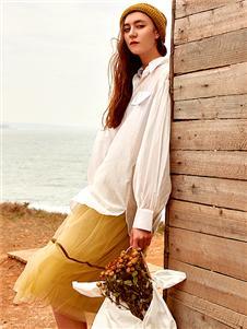 氏伽女装Wood plus+氏伽时尚新款半裙