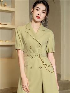 2021三弗国际时装夏装衬衫裙