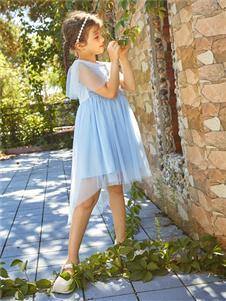2021水孩儿夏装新款蓝色纱裙