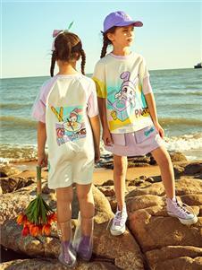 2021水孩儿夏装新款紫色套装